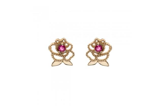 Enchanted rose gold earrings