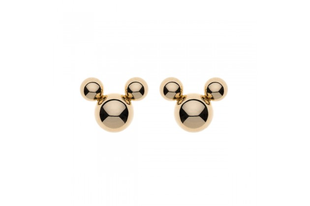 Mickey Mouse gold earrings