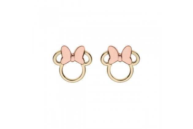 Minnie Mouse gold earrings