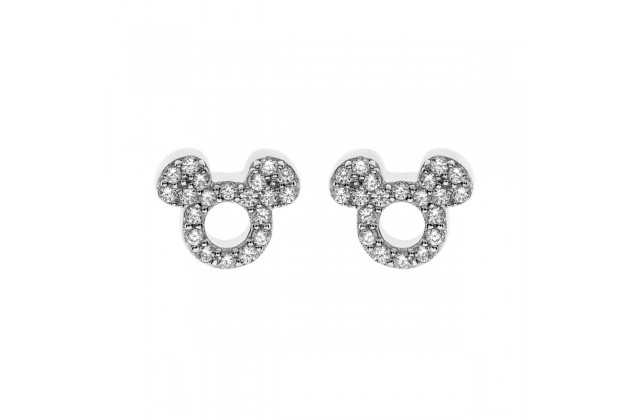 Mickey Mouse white crystal earrings