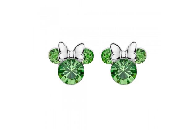 Silver earrings Disney August birthstone