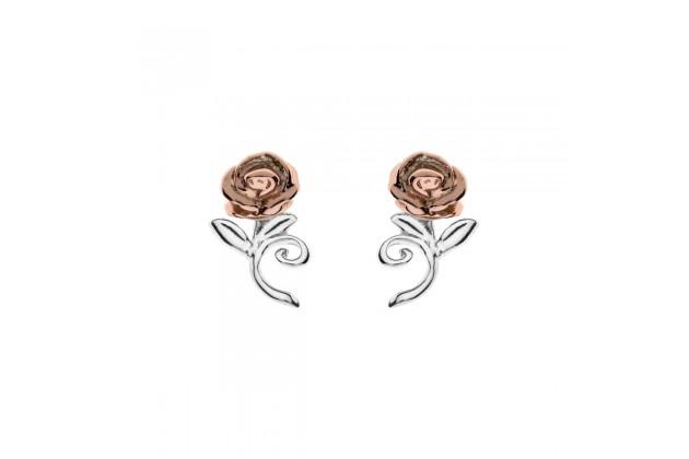 Rose of Bell silver earrings
