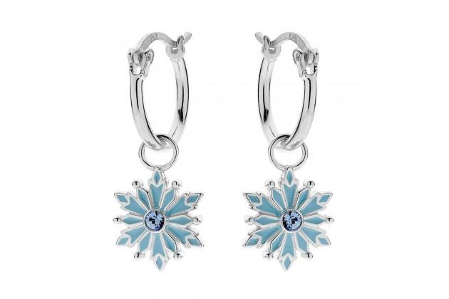 Silver snowflake earrings Disney Frozen