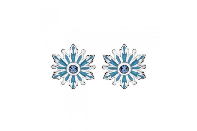 Delicate silver earrings Frozen
