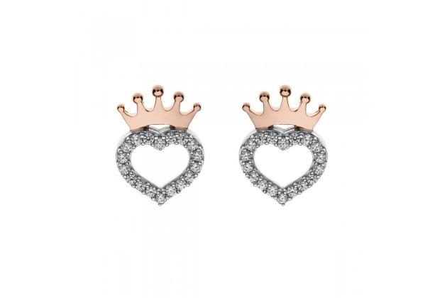 Heart of the Princess Disney silver earrings