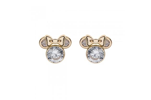 Gold earrings Disney April birthstone