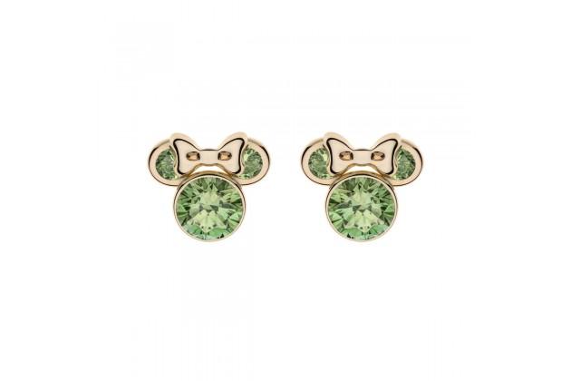 Gold earrings Disney August birthstone
