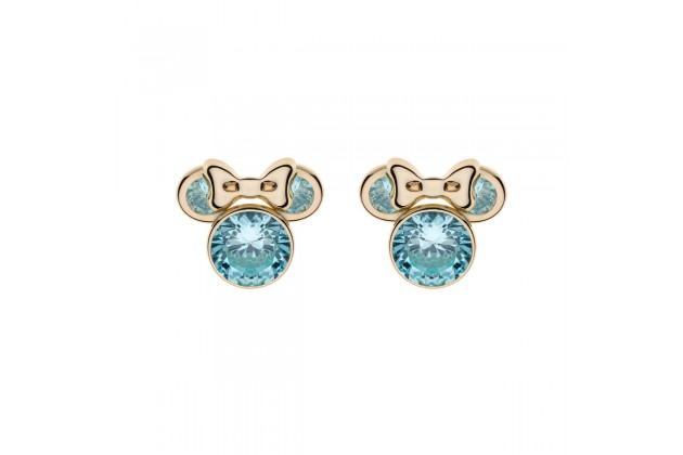 Gold earrings Disney December birthstone