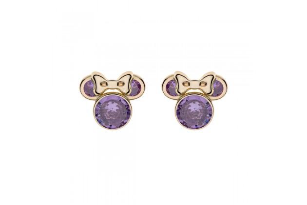 Gold earrings Disney February birthstone