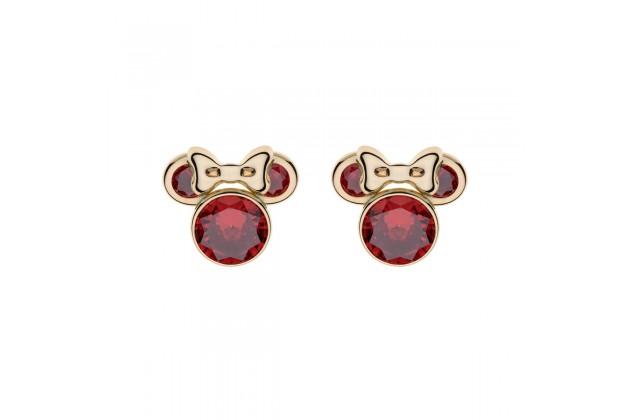 Gold earrings Disney January birthstone