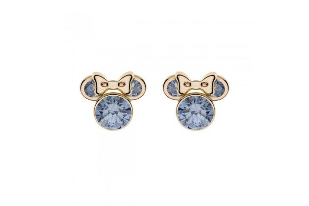 Gold earrings Disney March birthstone