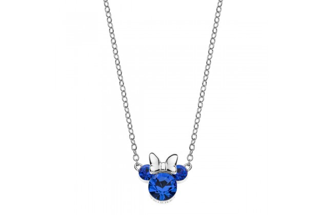 Silver necklace Disney September birthstone