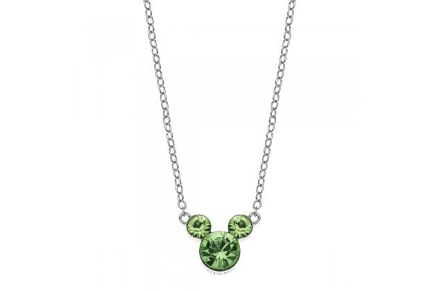 Silver necklace Disney August birthstone