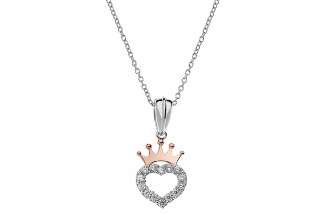 Heart of the Princess Disney silver necklace