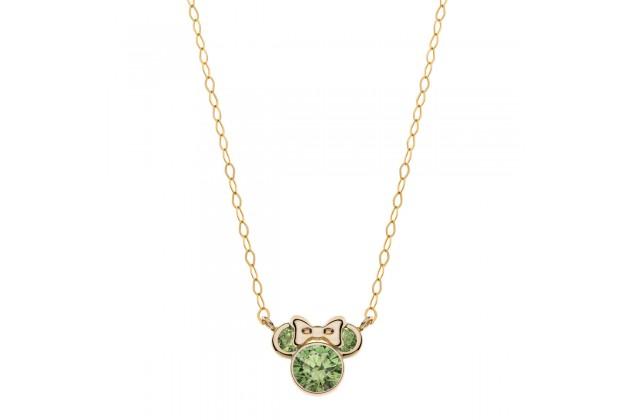 Gold necklace Disney August birthstone
