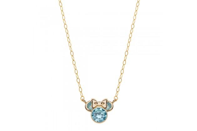 Gold necklace Disney December birthstone