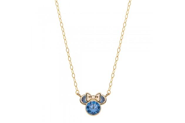Gold earrings Disney September birthstone