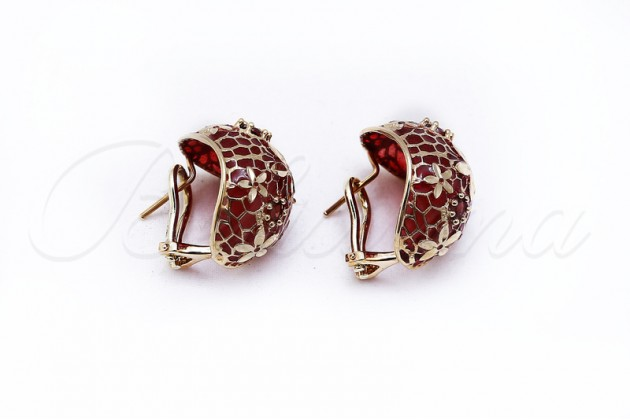 Обеци - Earrings - GOLD Color stones