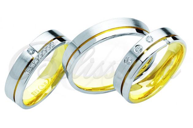 Брачни халки MARRY ME - Бяло злато жълто злато две страни