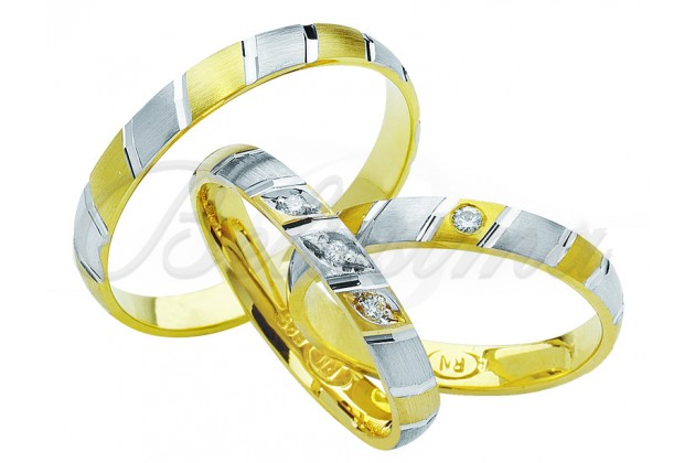 Брачни халки MARRY ME - Бяло злато жълто злато