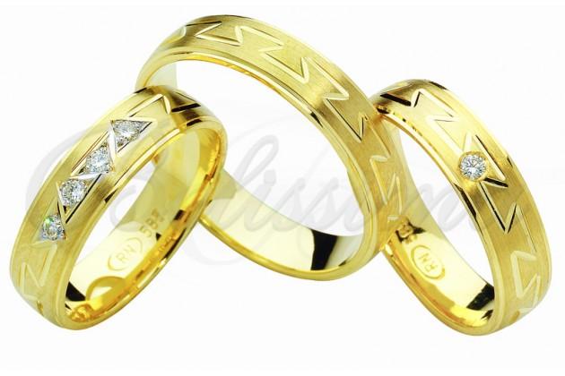 Брачни халки MARRY ME - Жълто злато - Пъзел