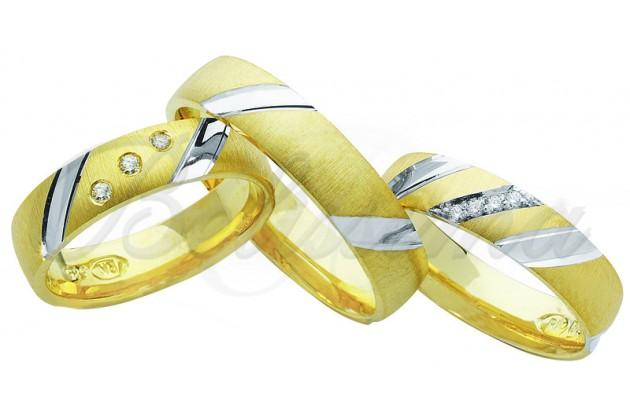 Брачни халки MARRY ME - Бяло и жълто злато