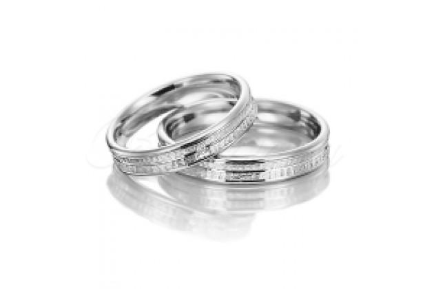 Сватбени халки MARRY ME бяло злато
