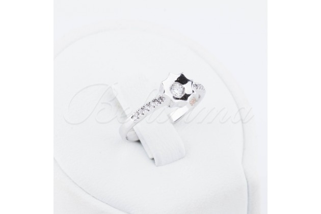 White gold engagement ring with diamonds Star - Rings - GOLD Engagement rings Rings with diamonds