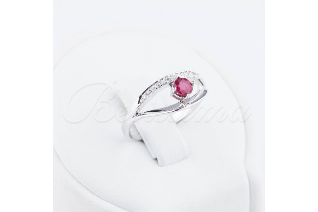 Ruby and diamonds golden ring