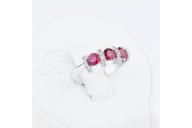 Diamonds and rubies golden ring