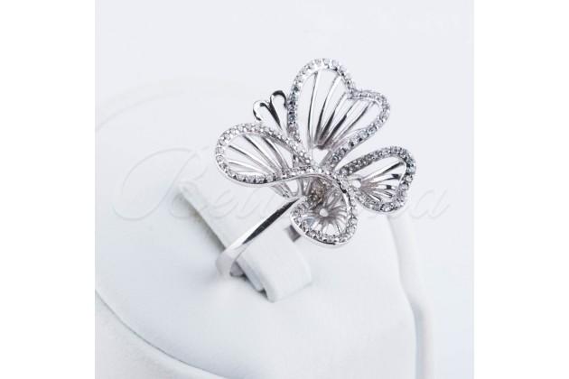 Designer silver ring Butterfly