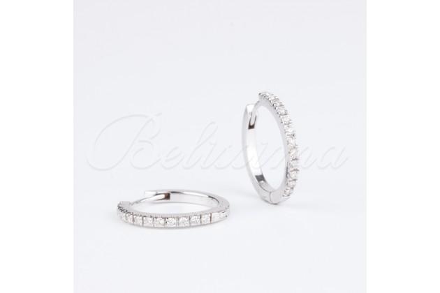 Earrings - Earrings - GOLD With diamonds Hoop earrings