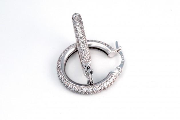 Earrings - Earrings - GOLD With zirconium Hoop earrings