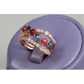 Color stones rings