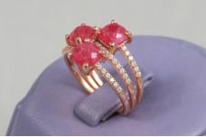 Rose gold ruby ring