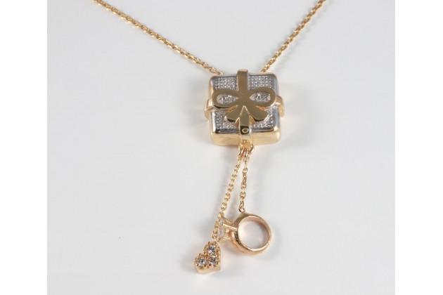 Necklace - Necklaces  - GOLD Bracelets With zirconium